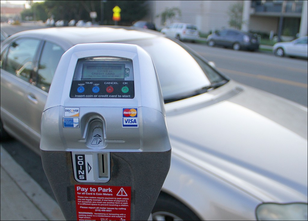 A parking meter on Main Street.