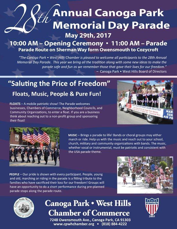 28th Annual Canoga Park Memorial Day Parade