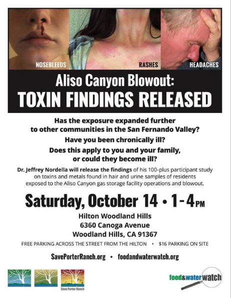 Dr. Nordella's Aliso Canyon Disaster Health Study Town Hall Meeting – Saturday, October 14, 2017