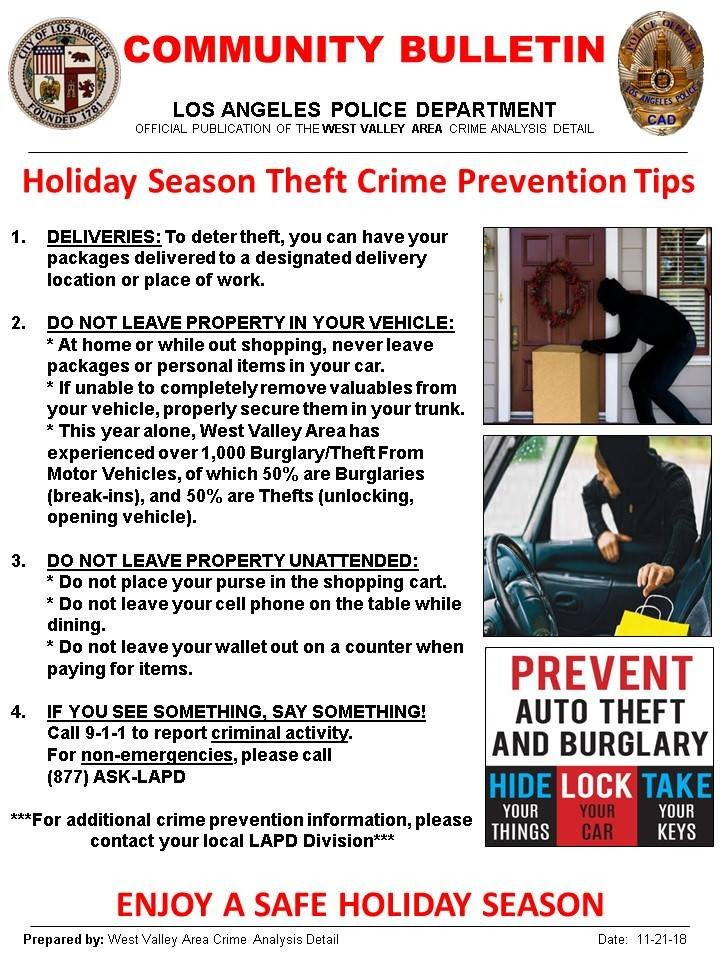 Holiday Crime Prevention