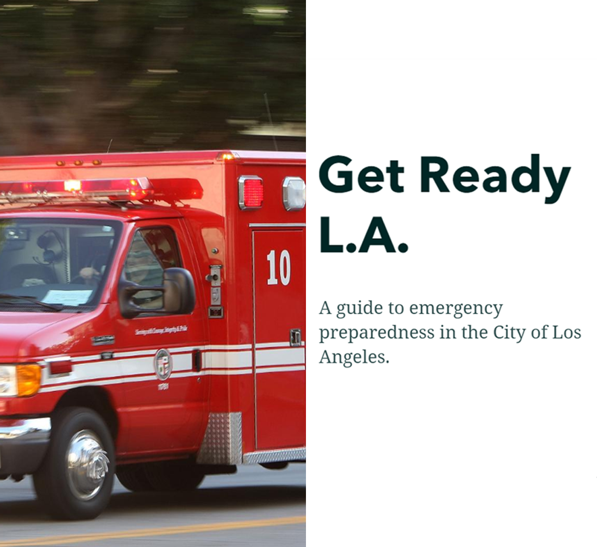 "Controller Galperin Launches ""Get Ready LA"" Online Emergency Preparedness Resources Map"