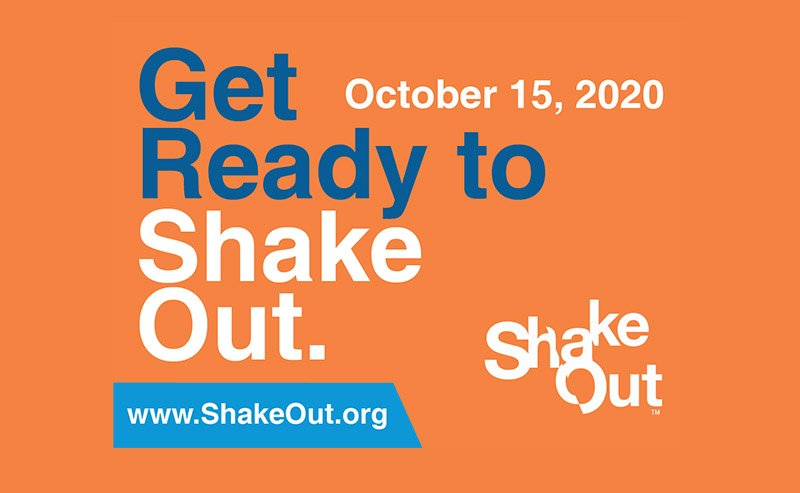 Earthquake Preparedness: The Great Shakeout – Thursday, 10/15 at 10:15am