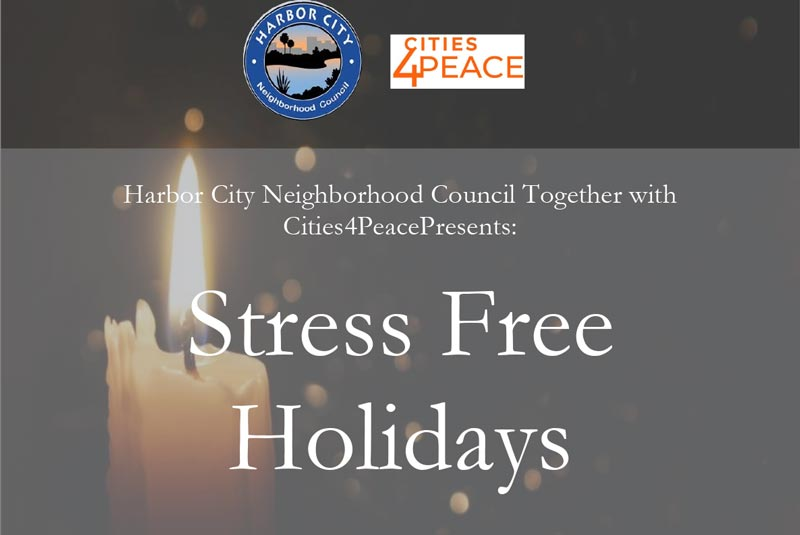 """Stress-Free Holidays"" Events"