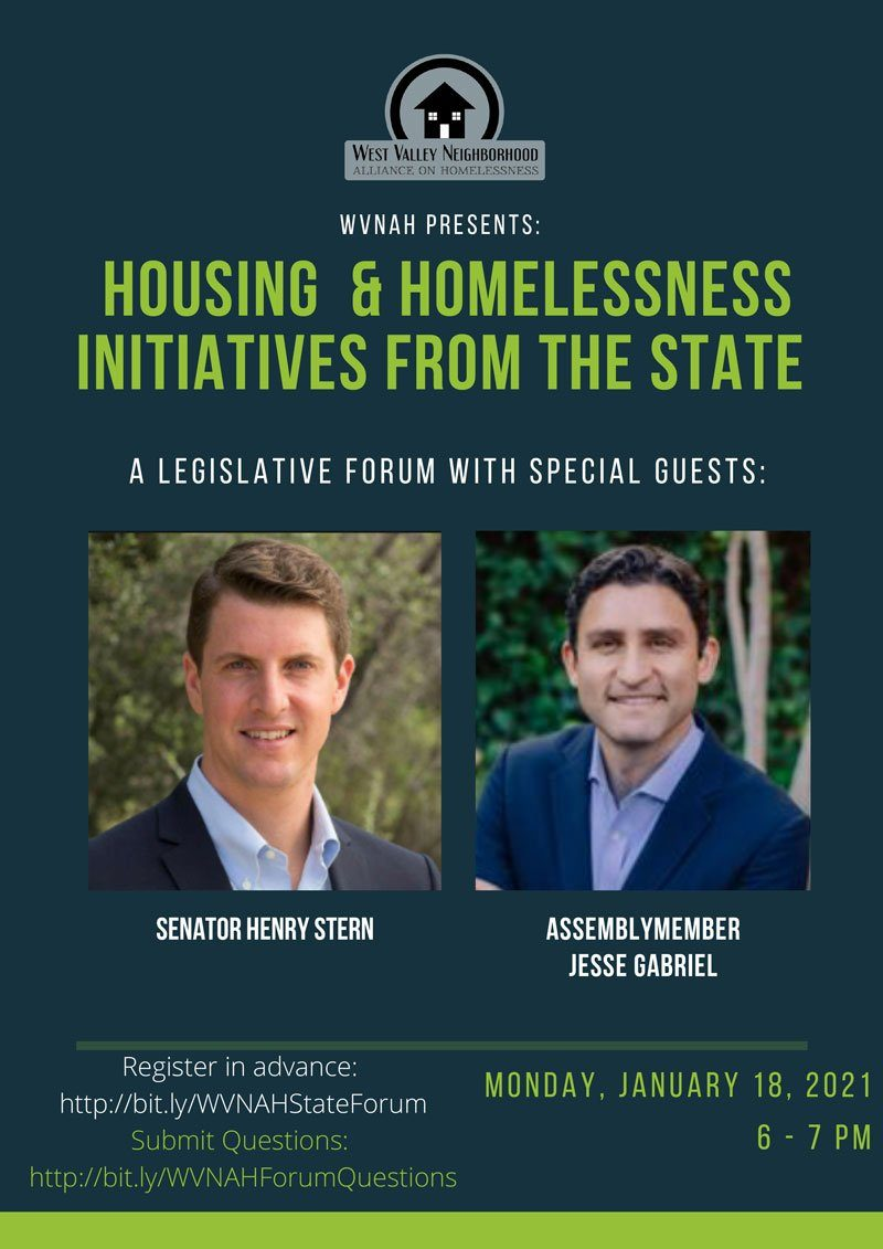 WVNAH Forum on Housing and Homelessness Initiatives in the State – Monday, Jan. 18